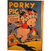 Dell Comic-Porky Pig's Adventure in Gopher Gulch 1946 #112