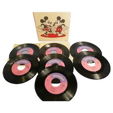 Vintage Mickey Mouse My First Walt Disney Record Collection 1970's