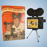 Vintage Mickey Mouse Club Newsreel Projector Toy 1950's