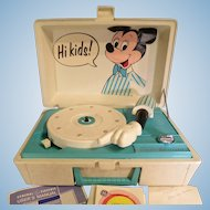 Vintage Mickey Mouse Record Player