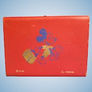 Vintage Mickey Mouse Carrying Case from 1950's