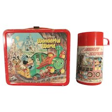 Vintage Mickey Mouse Lunch Box 1980