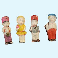 Vintage set of 4 Bisque Dolls 1950's