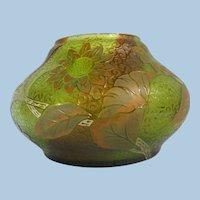 Lenora Glassworks Czechoslovakia Large Glass Etched Bowl 1910-1920