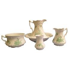 Antique Wash Bowl & Basin set circa 1889