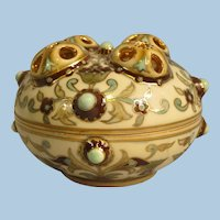 Antique Zsolnay Hungarian Art Pottery 1885