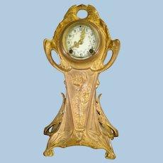Art Nouveau Gold gilded New Haven Clock 1890-1910