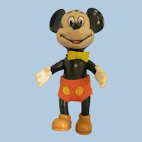 Vintage Mickey Mouse Rubber Doll