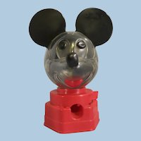 Vintage Mickey Mouse gum ball bank 1968