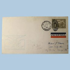Vintage Cover First Flight Air Mail Service Montreal Canada to Albany N.Y 1928