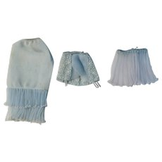 Vintage Barbie under Blue garment acessories #919  1959-62