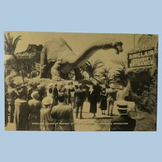 Vintage Post Card Sinclair Dinosaur Exhibit at the Century of Progress Exposition 1933-34