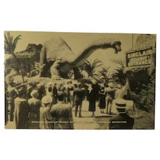 Vintage Post Card Sinclair Dinosaur Exhibit at the Century of Progress Exposition 1933-34