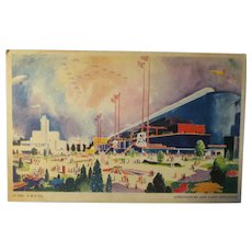 Vintage Post Card 1933 A Century of Progress Exposition 1933-34  of Agriculture and Dairy Building
