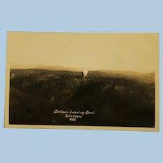 Vintage Photo Post Card of Balloon leaving Bowl Black & White
