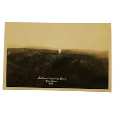 Vintage Photo Post Card of Balloon leaving Bowl Black & White