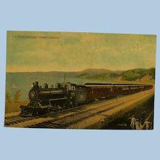 "Vintage Post Card Old Train C.G.R. Express ""Ocean Limited""  Canada Railway"