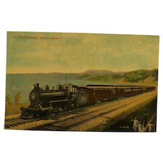 "Vintage Post Card Old Train C.G.R. Express ""Ocean Limited""  Canada Railway"