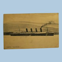 "Vintage  Post Card of the R.M.S. ""Lusitania"" Mailed 1907"