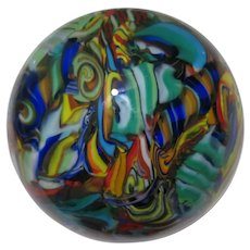 Vintage Contemporary Art Glass Paperweight by, J. Hamon Miller