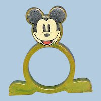 Mickey Mouse Catalin Plastic Napin Ring