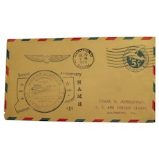 Vintage Cover Air Mail Lindbergh celebration 1929