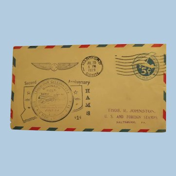 Vintage Cover Air Mail Lindbergh celebration 1929