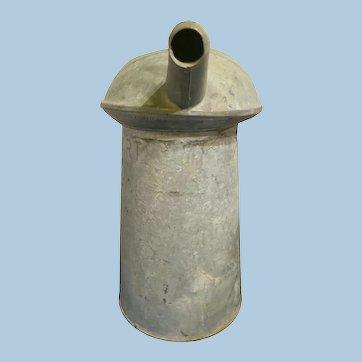 Vintage 4 Quart Liquid  Galvanized Oil Can with Spout.