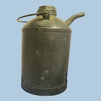 Vintage Kerosene Metal Can with Spout