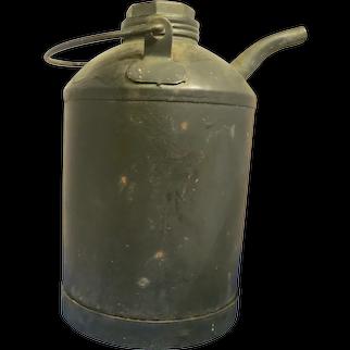 Vintage Kerosene Metal Can with Spout
