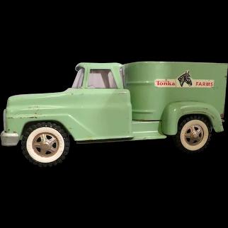 Vintage 1960's Tonka Farms Horse Van No. 2430