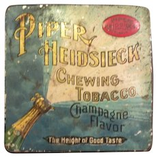 Vintage Piper Heidsieck Chewing Tabacco Tin 1920's