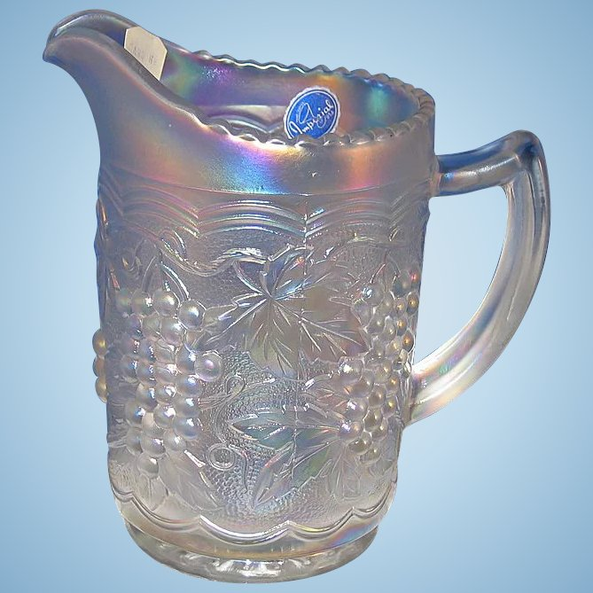 Imperial Carnival Glass Pitcher Last Chance Antiques