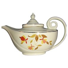 Hall's Jewel Tea Autumn Leaf Aladdin Tea Pot