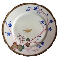 Beautiful Chateau St. Germain luncheon plate with dragonfly hand painted in gold