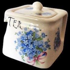 Kernewek Cornwall England cube teapot with posies