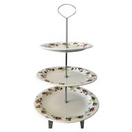 Hazelnut by Beswick England 3-tiered plate server