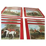 One dozen Pimpernel cork-backed English Fox Hunting placemats by J F Herring Sr
