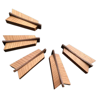 Japanese cypress wood chopstick rests hashioki - 5 in the form of arrow feathers