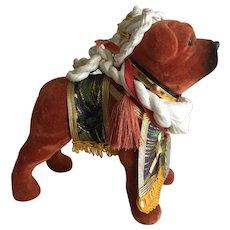Vintage figurine of champion fighting dog (Tosa Inu) from Yokozuna Japan