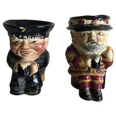 Two small old Toby jugs - Old Salt and Beefeater