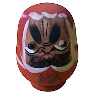 "Vintage wooden ""pop-out eyes"" Daruma with 6 baby Darumas inside"