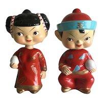 Vintage Chinese children bobblehead nodders made in Japan