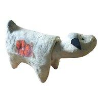 Vintage HARIKO NINGYO papier mache nodding dog doll from Miyagi Prefecture in Japan