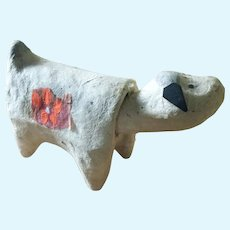 Vintage HARIKO NINGYO papier mache nodding dog doll from Miyagi Prefecture in Japan