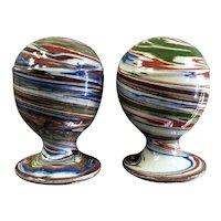 Vintage Desert Sands Pottery swirly earthtones salt & pepper shakers