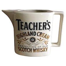 Teacher's Scotch Whiskey pub jug pitcher