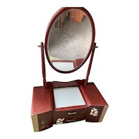 "Old ""high end Wajima lacquered mirror stand"" vanity from Japan"