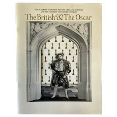 1988 program The British & The Oscar AMPAS exhibit - die-cut cover with Charles Laughton - Henry VIII