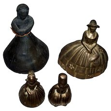 """Collection of Vintage/ Antique Figural Dinner Bells """"Southern Lady"""" """" Dutch Boy & Girl"""" & a """"Primitive woman"""""""